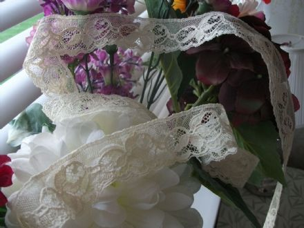 Genuine Nottingham Cotton Cluny Lace Ecru Vintage style FC125 Bridal. Made in Great Britain